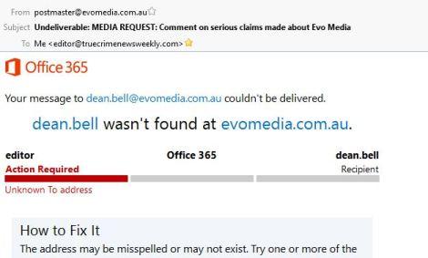 Dean Bell Evo Media Email No Longer Active