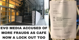 EVO MEDIA ACCUSED OF MORE FRAUDS AS CAFE NOW A LOCK OUT TOO