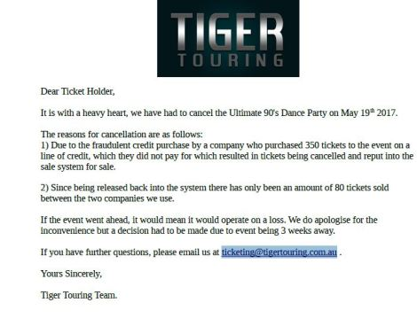 TigerTouringCancelsEventBecauseOfFraud