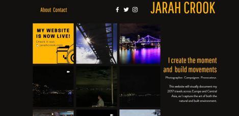Jarah Crook Website