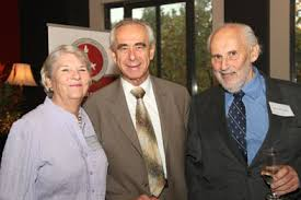 Victor Berger with Prof Fred Ehrlich and Shirley Ehrlich